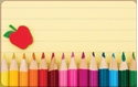 Front Template 0020 - Pencil Crayons