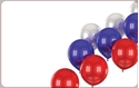 Front Template 0022 - Red, White & Blue Balloons