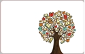 Front Template 0025 - School Books Tree