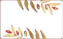 Front Template 0057 - Red Gold Leafs