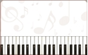 Front Template 0067 - Keyboard Keys & Notes