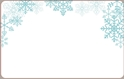 Front Template 0072 - Snowflakes