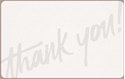 Front Template 0081 - Thank You Type